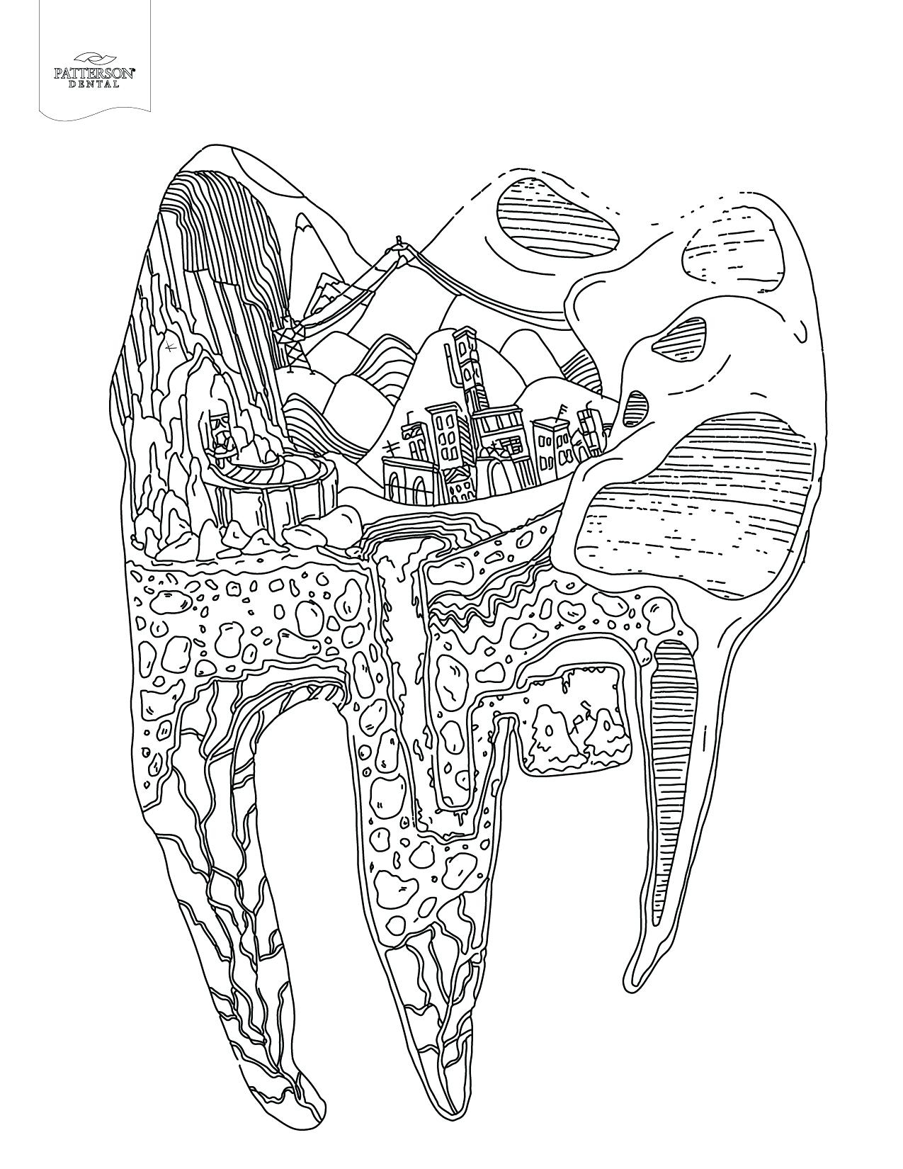 Teeth Coloring Pages Gallery