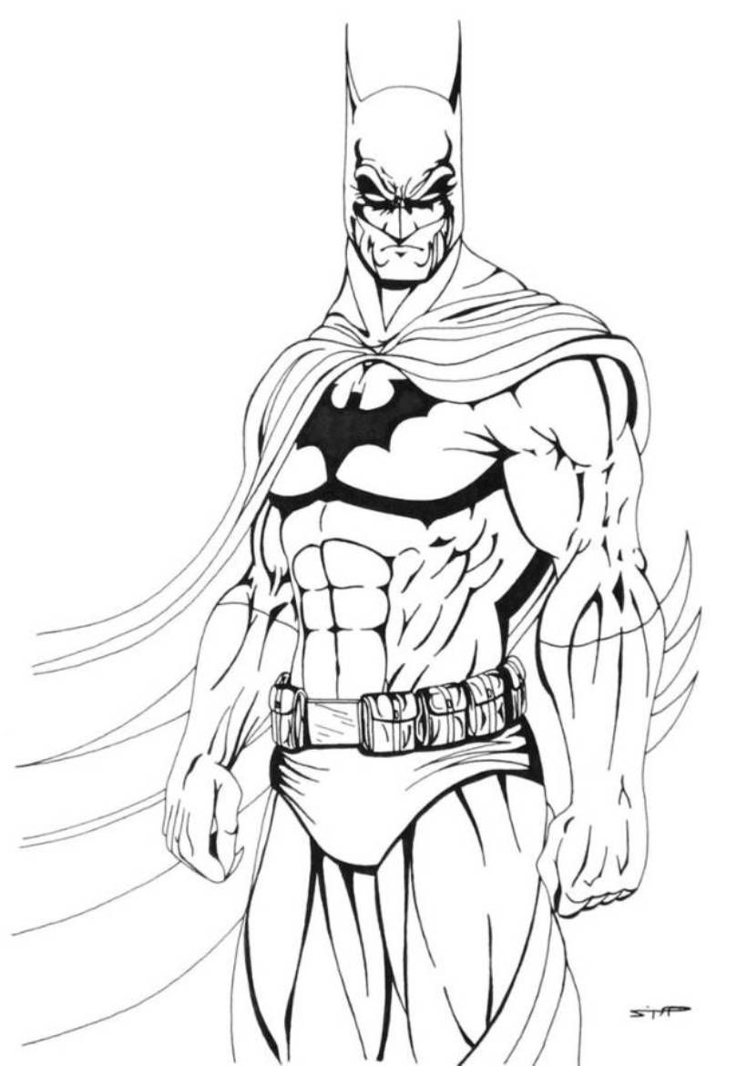 Download And Print Cool Batman Coloring Pages For The Boy Printable Of