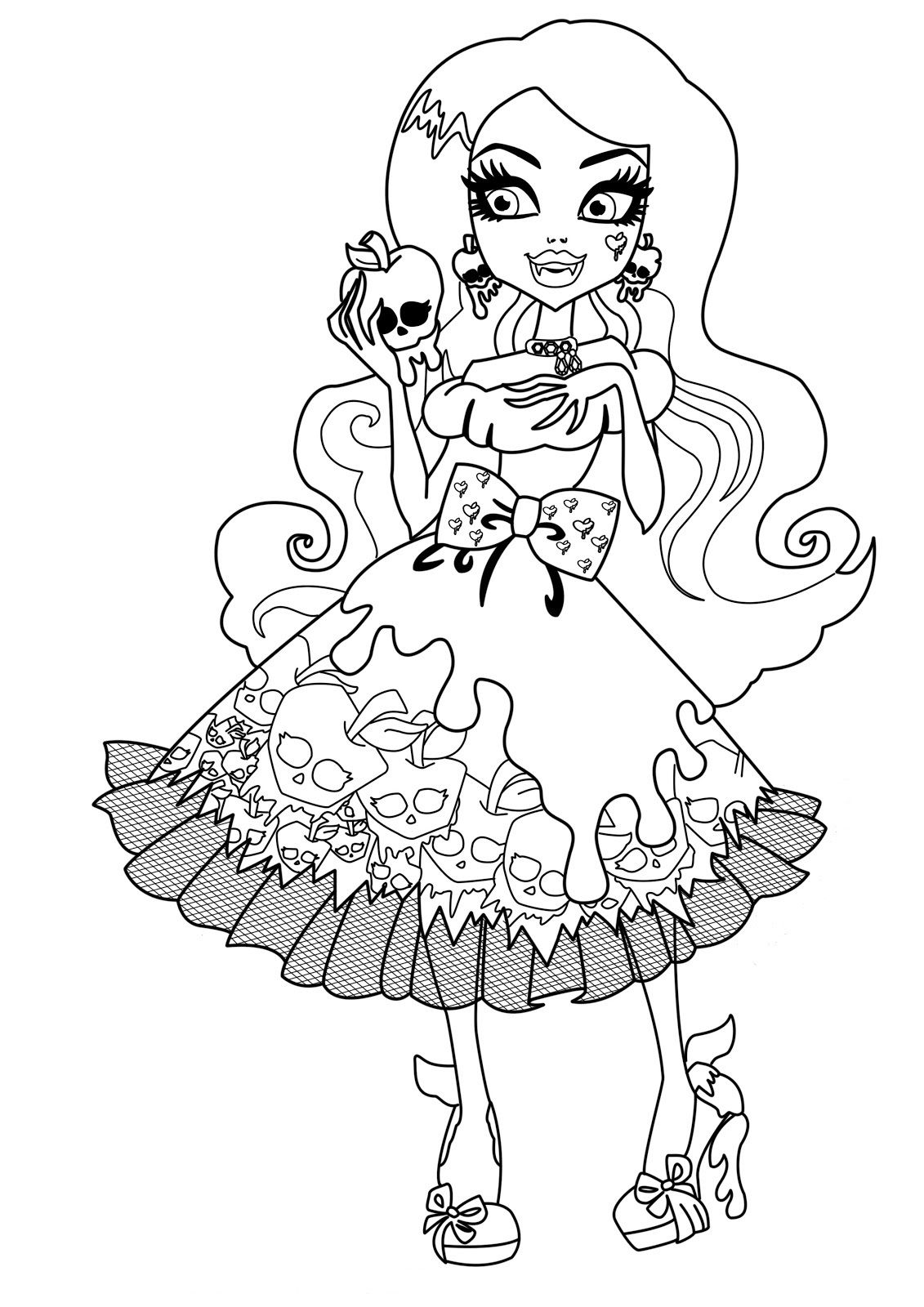 Draculaura Monster High Dolls Coloring Pages Monster High Coloring to Print Of Monster High Coloring Pages Monster High Coloring Page All Collection