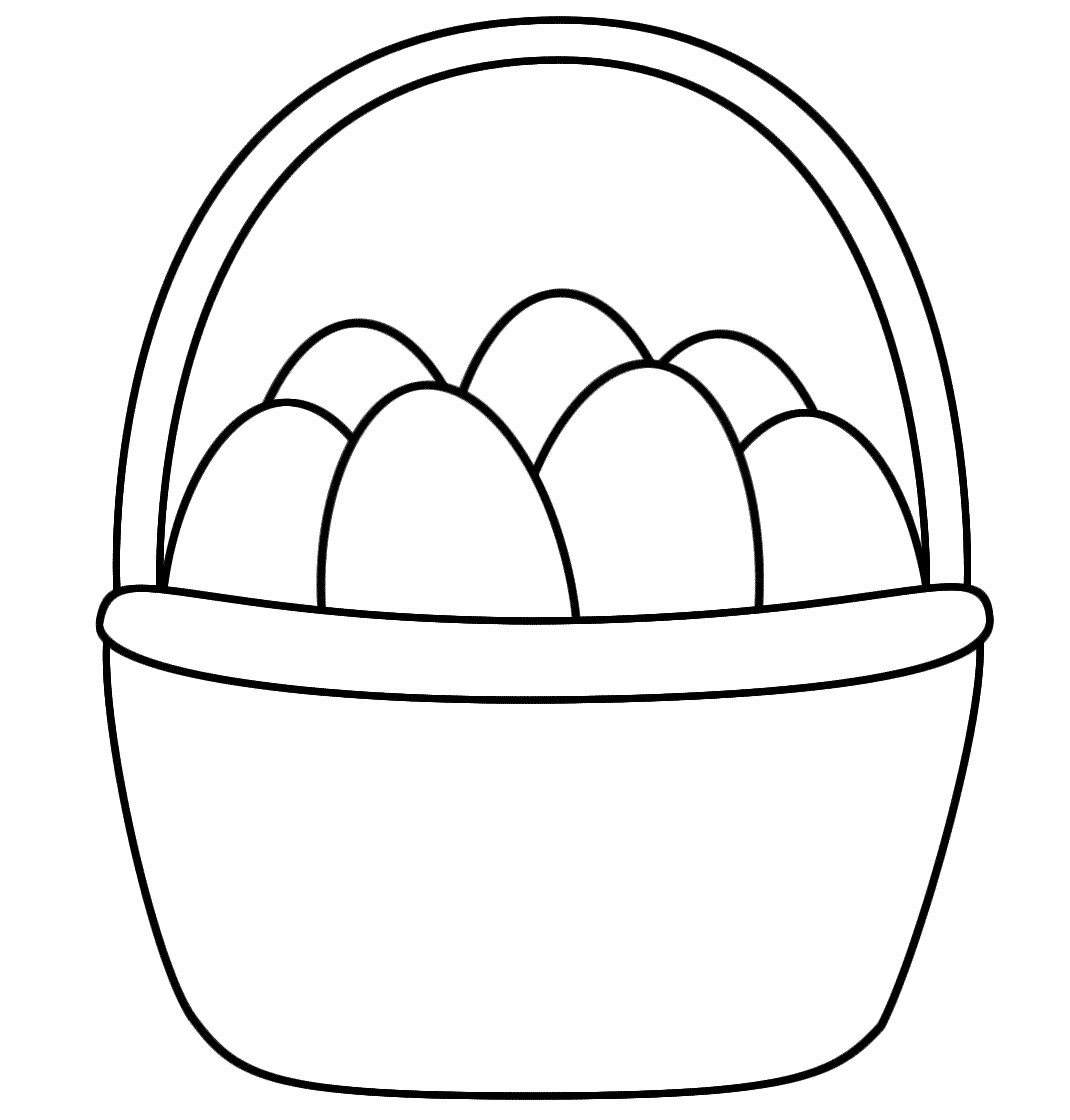 Coloring Easter Pages to Print - Easter Basket Coloring Pages to Print Gallery