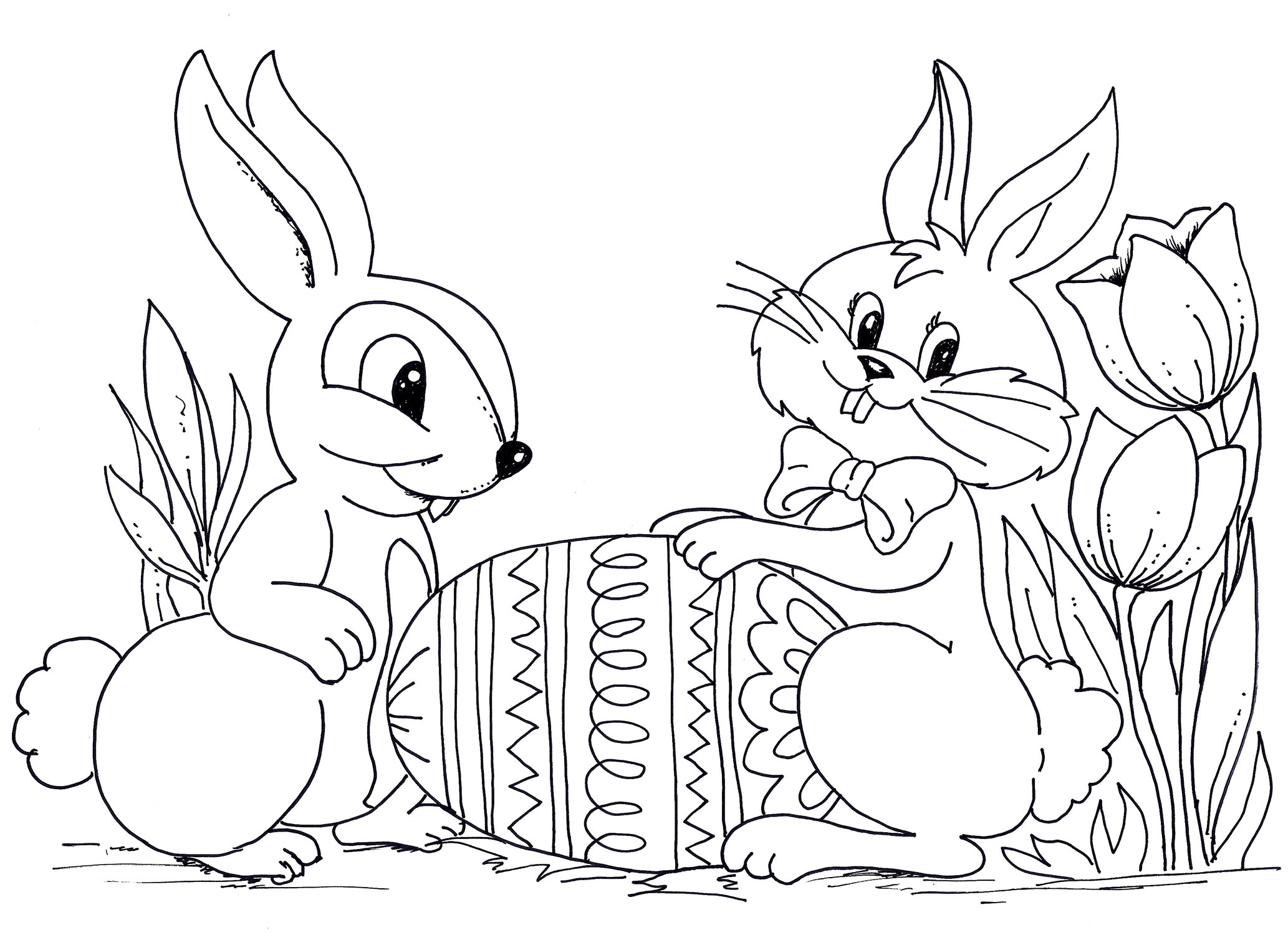 Easter Coloring 25 Free Printable Pages Of Egg 23 Line