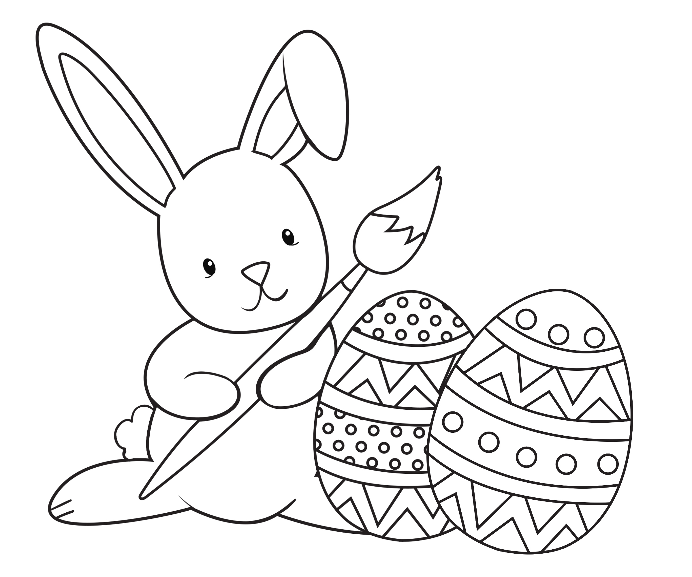 Easter Coloring Pages for Kids Crazy Little Projects Download Of Bunny Egg by Rustchic Bucket Printable