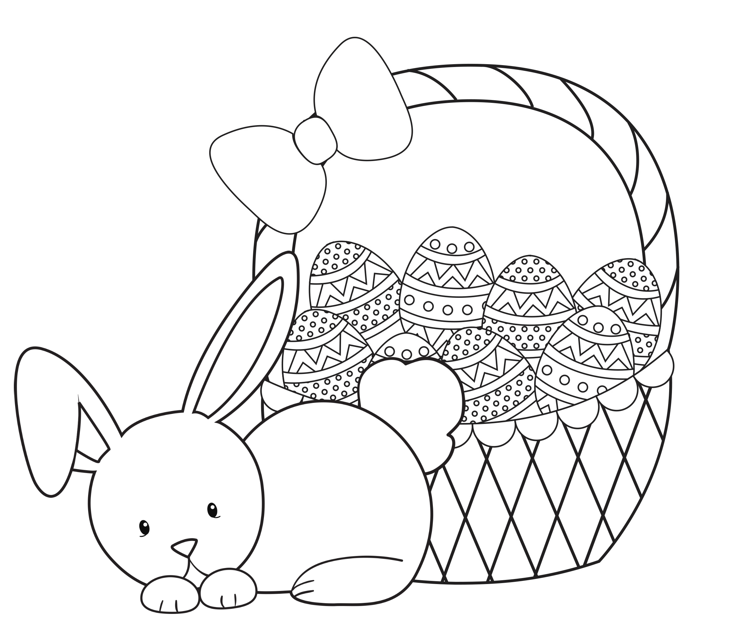 Easter Coloring Pages for Kids Crazy Little Projects Printable Of Easter Basket Coloring Pages to Print Gallery