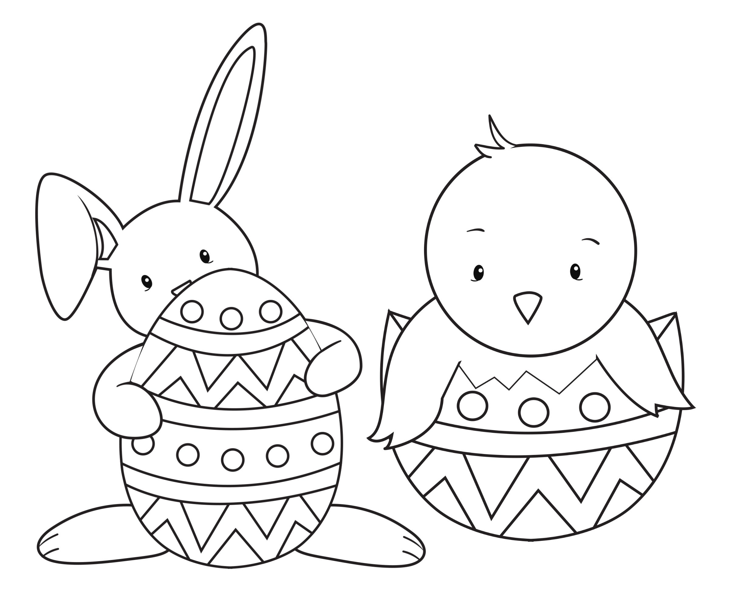 Easter Coloring Pages for Kids to Print Of Easter Coloring14 Gallery