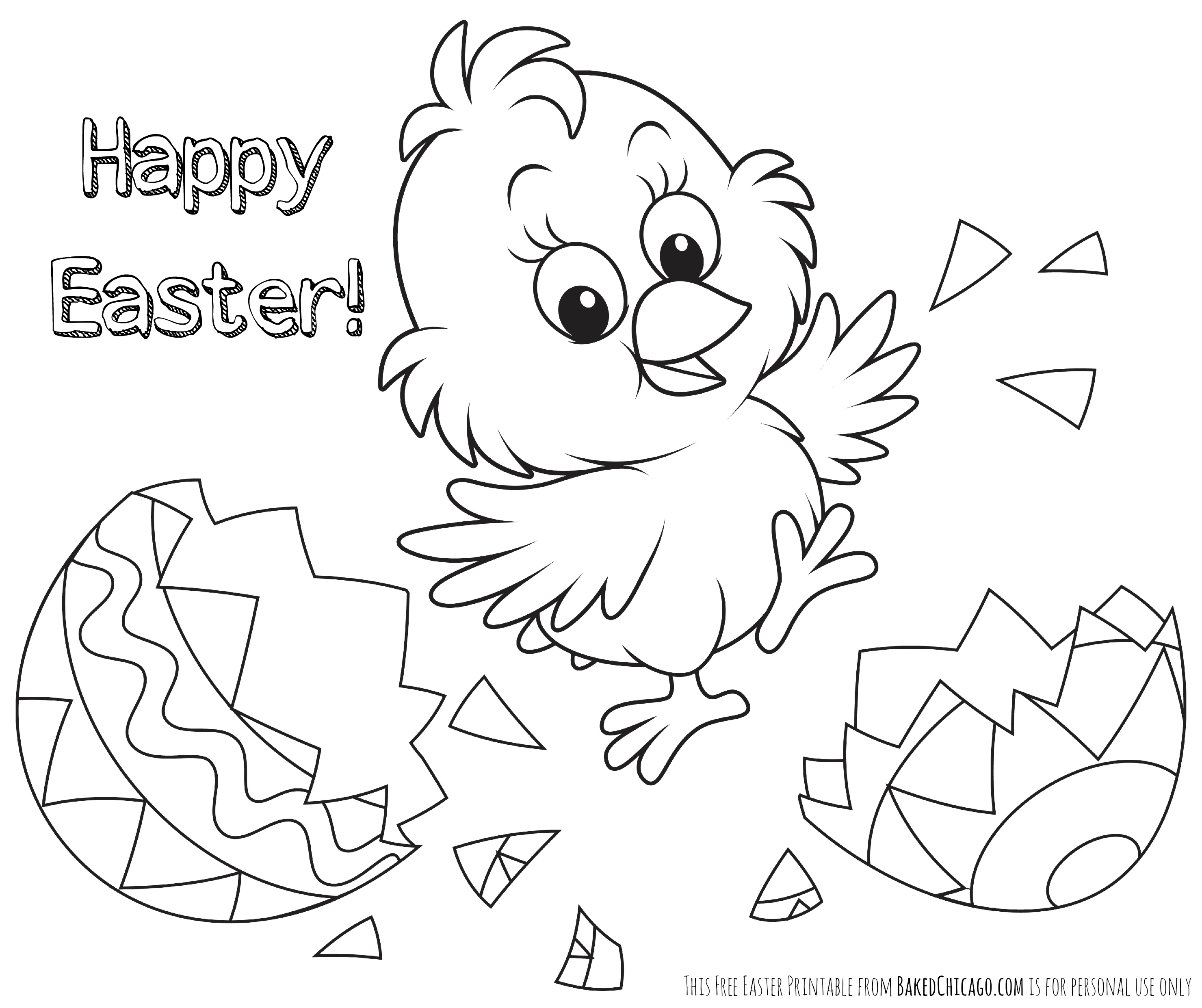 Coloring Easter Pages to Print Printable 9b - To print for your project
