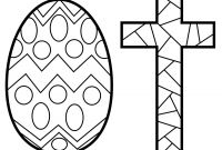 Coloring Easter Pages to Print - Easter Cross Coloring Pages Printable for Fancy Draw Print to Print