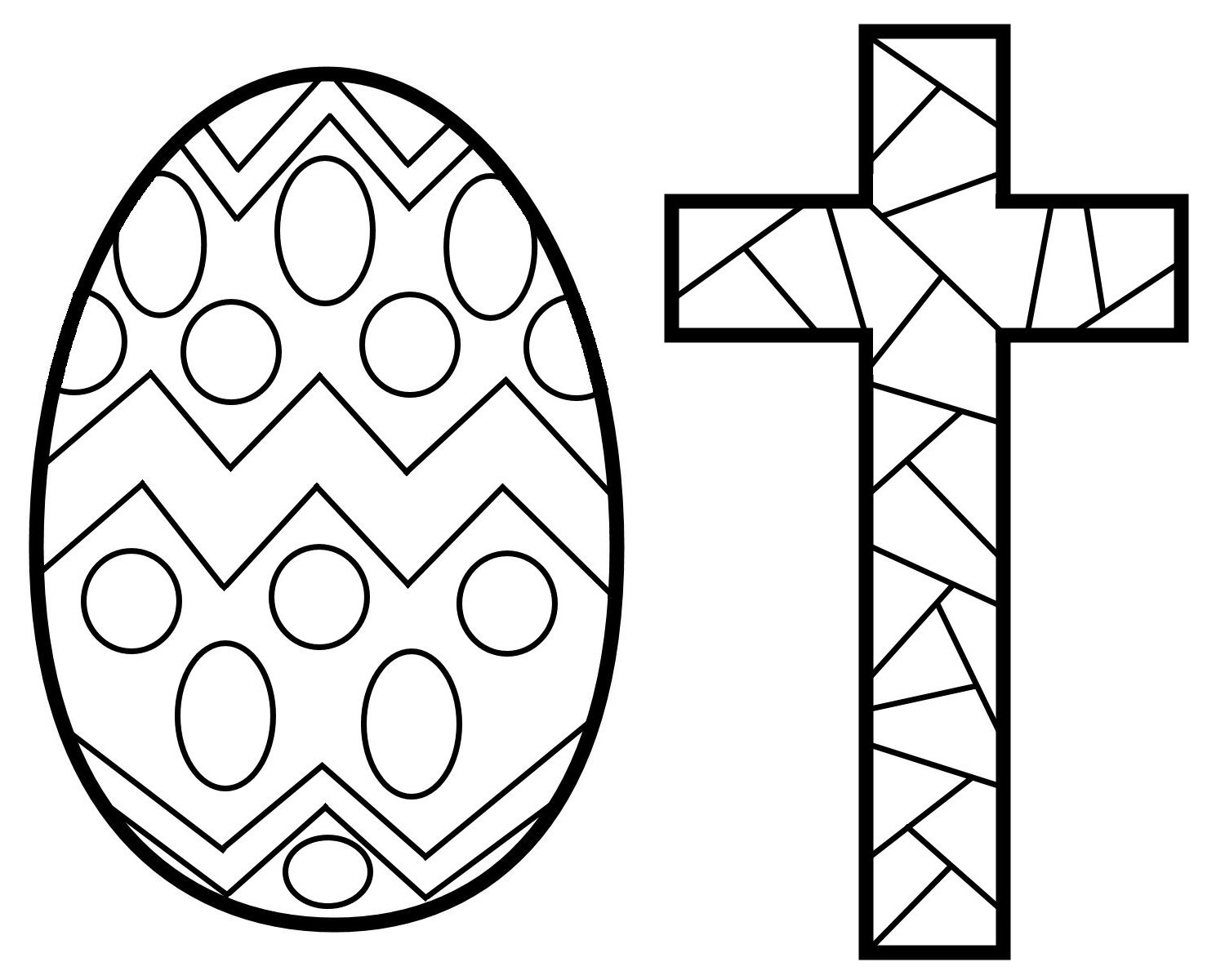 Easter Cross Coloring Pages Printable for Fancy Draw Print to Print Of Easter Coloring14 Gallery