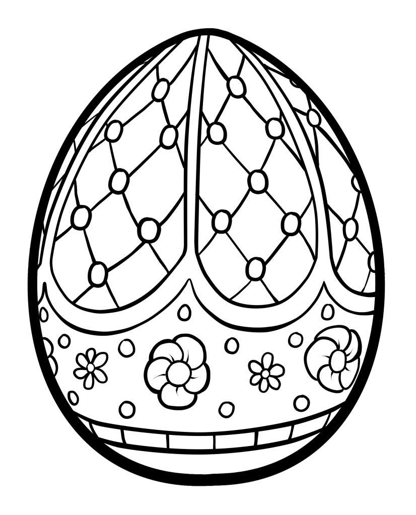 Easter Egg Coloring Pages Line Cute Free Printable Gallery Of Hello Kitty Happy