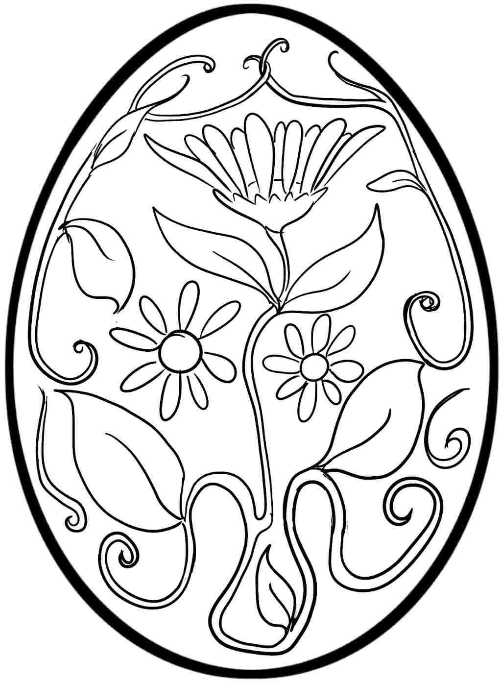 Easter Egg Coloring Pages 23 Line Kids Printables for In Easter to ...