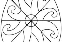 Coloring Easter Pages to Print - Easter Egg with Spiral Pattern Coloring Pages Printable Gallery