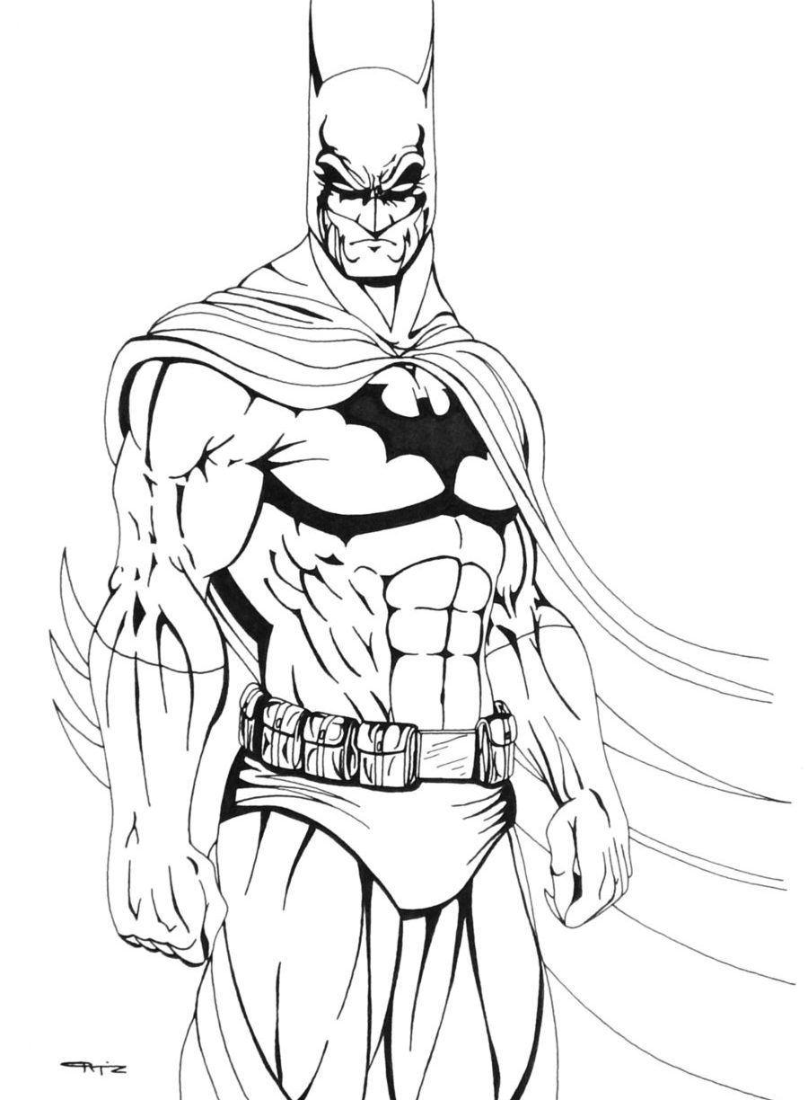 Batman Coloring Pages to Print 16d - Free Download