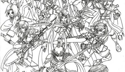 Final Fantasy Coloring Pages - Final Fantasy Coloring Pages for Adults Collection Collection