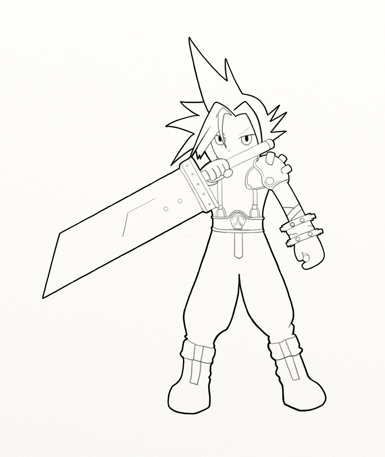 Final Fantasy Coloring Pages ordering Download Of Sephiroth Line by Skylewolf 900—1273 Collection