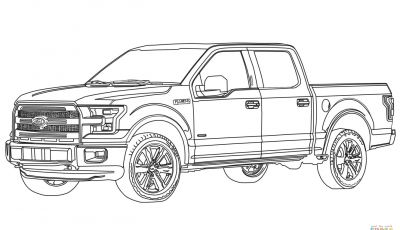 Ford Truck Coloring Pages - ford F150 Pickup Truck Coloring Page to Print