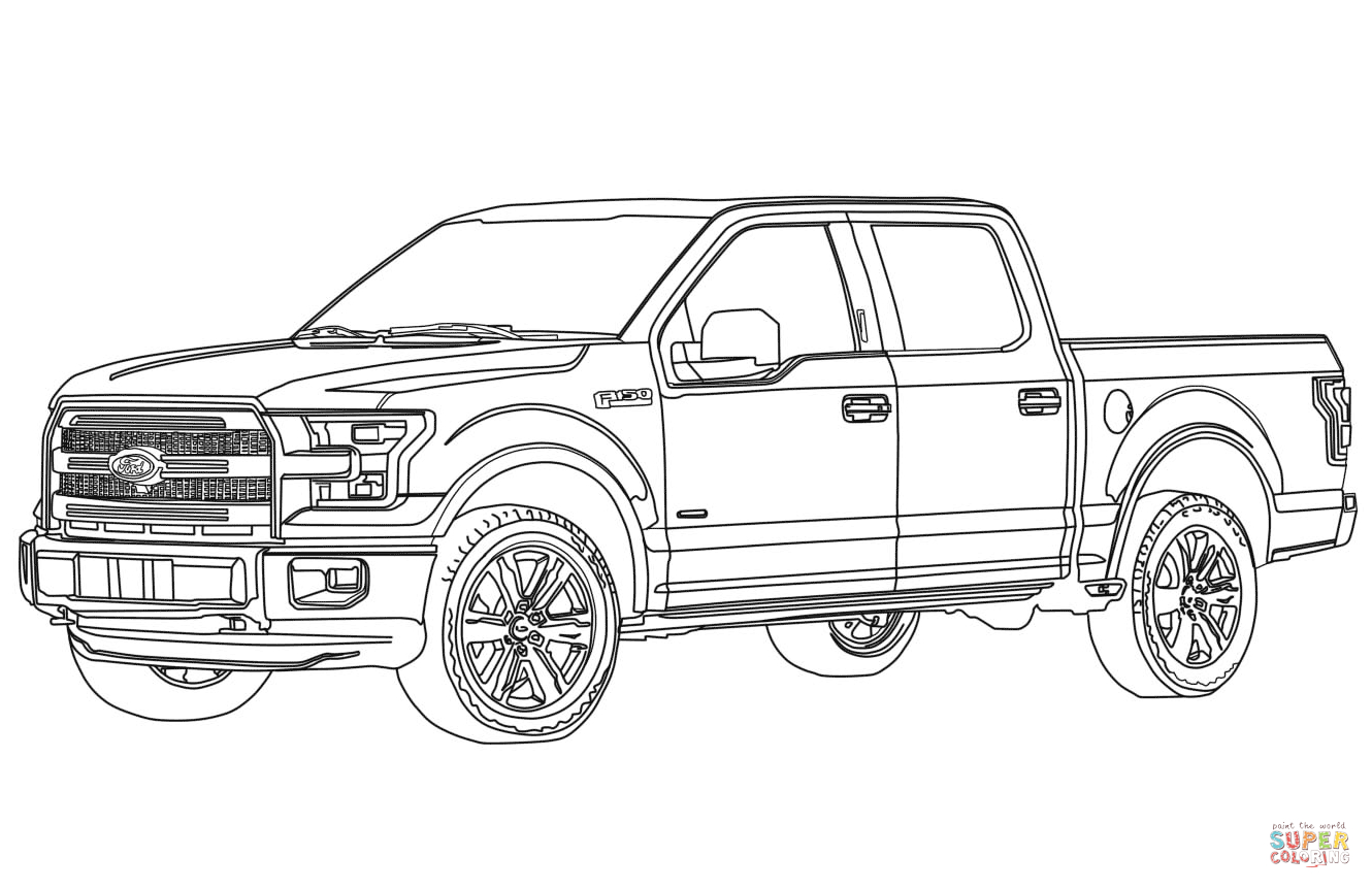 Ford Truck Coloring Pages Download 18a - Free For Children