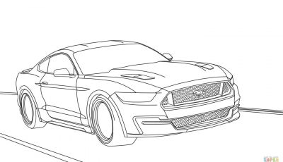 Coloring Pages Of ford Mustangs - ford Mustang 2015 Coloring Page Gallery