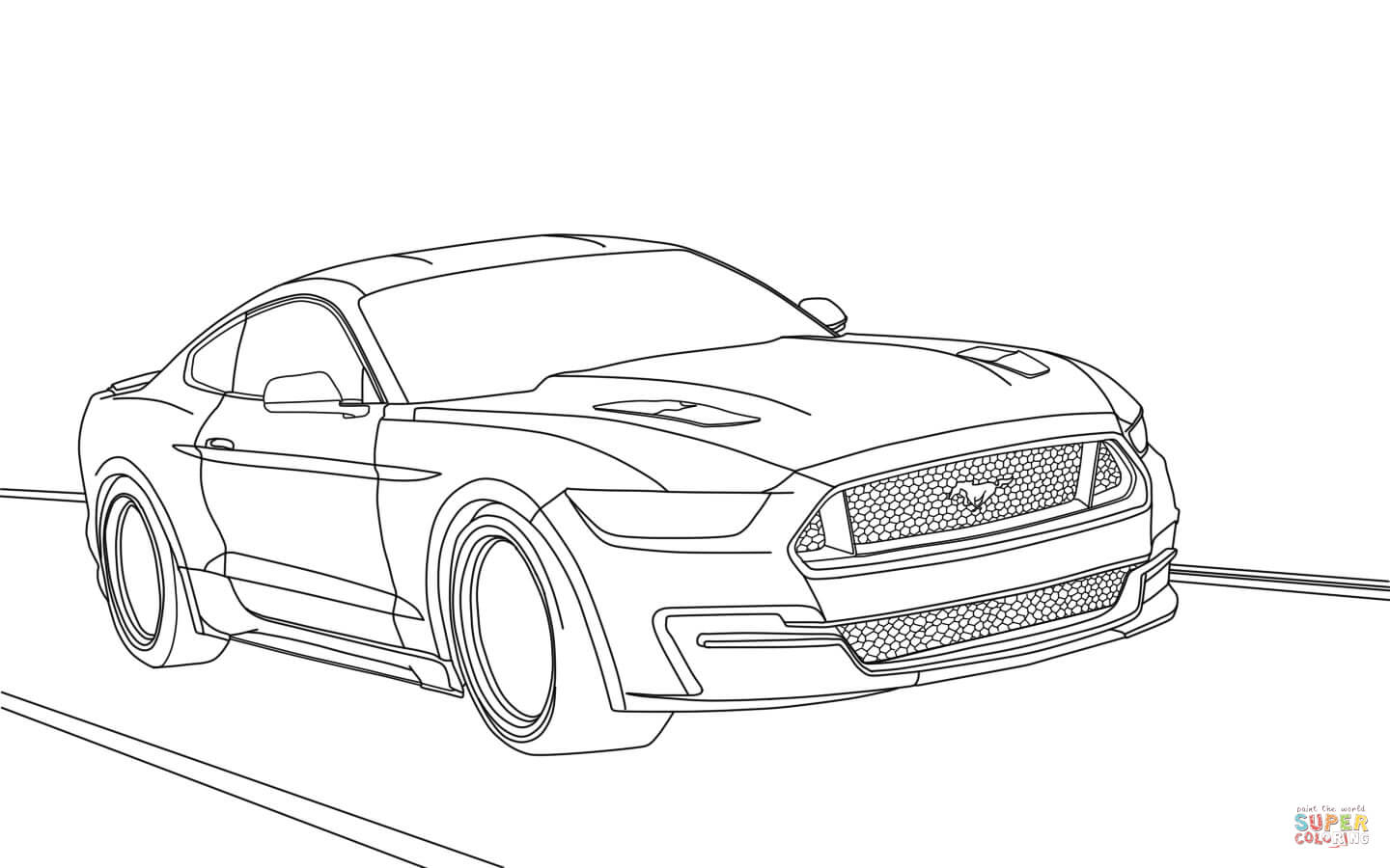Ford Mustang 2015 Coloring Page Gallery Of Super Car ford Mustang Coloring Page Inspirational Mustang Download Printable