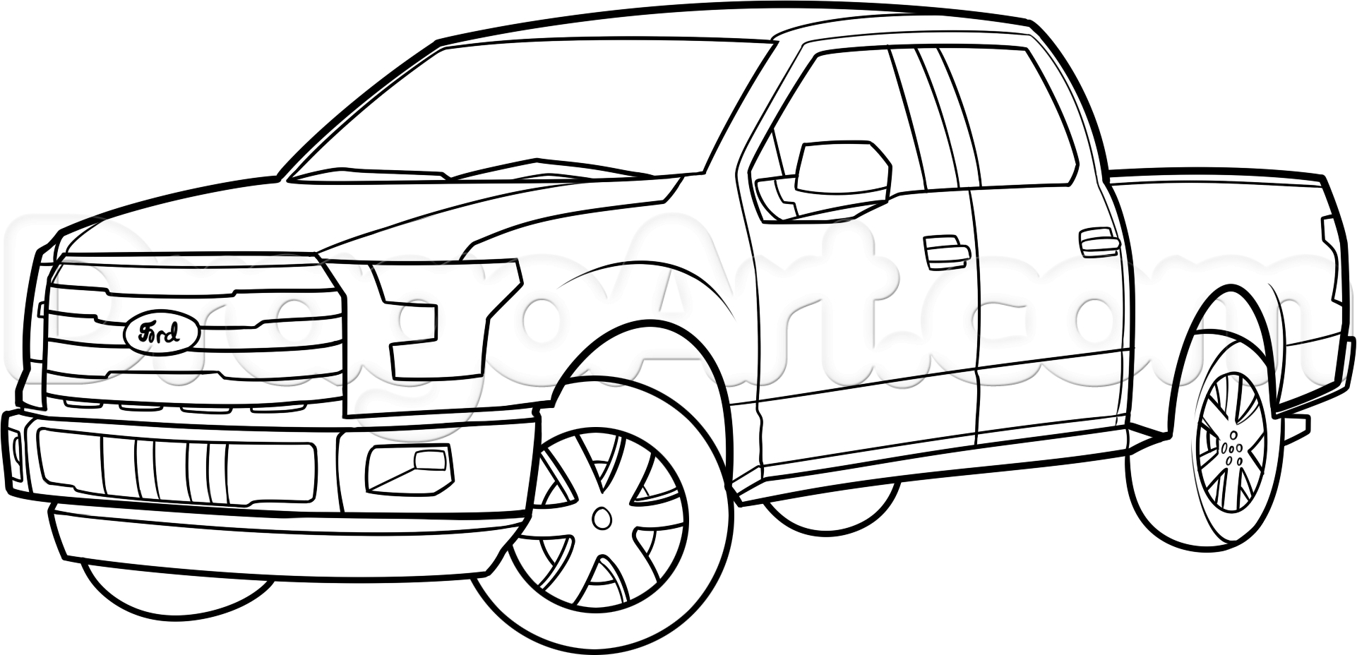 ford truck coloring pages download