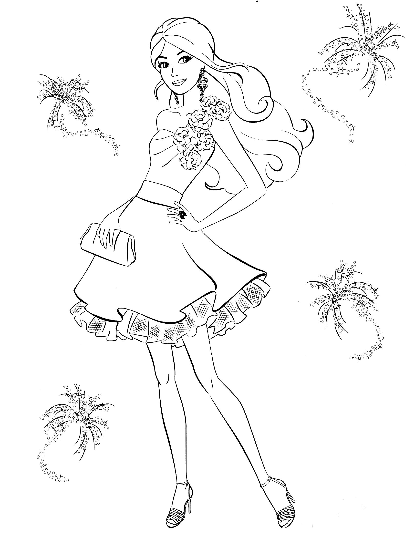 Free Barbie Colouring Pages 4 Coloring Pinterest Printable