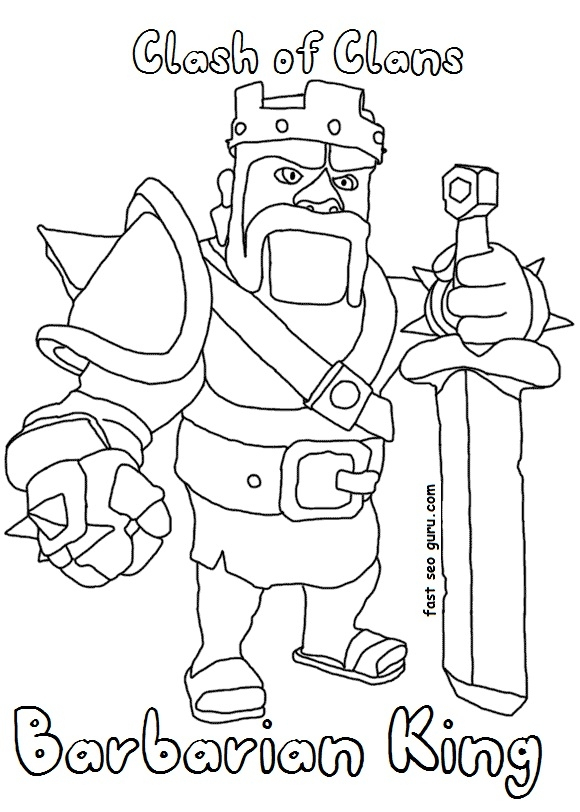 Free Clash Of Clans Coloring Pages to Print 3b - Free For Children