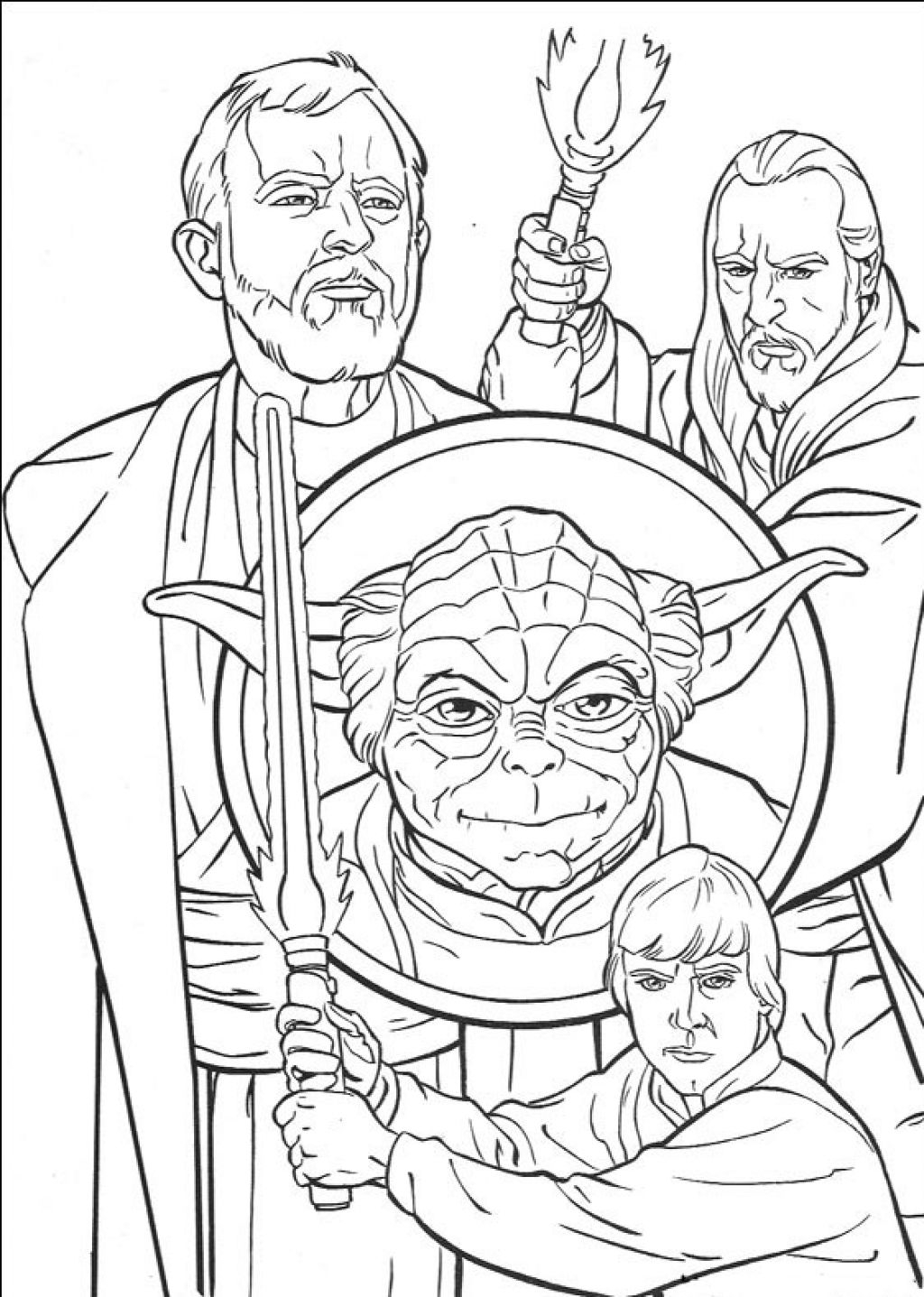 Star Wars Characters Coloring Pages Gallery | Free ...