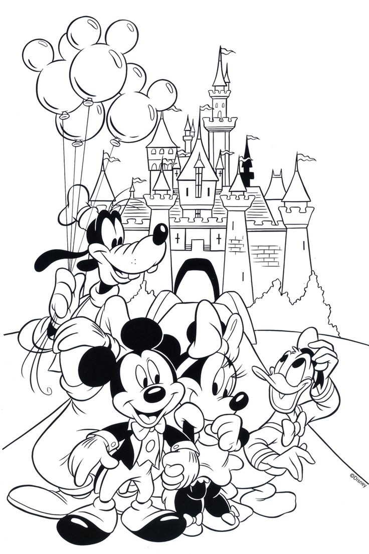 Free Disney Coloring Page Features Cinderella S Castle and All the Gallery Of Walt Disney Coloring Pages Marie Walt Disney Characters Download