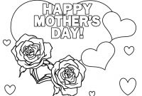 Mothers Day Coloring Pages for Preschool - Free Kindergarten Mothers Day Coloring Pages Best Printable for Kids Download