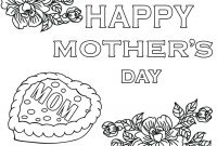 Mothers Day Coloring Pages for Preschool - Free Mothers Day Coloring Pages Cards Happy Grandparents 5 Printable Collection