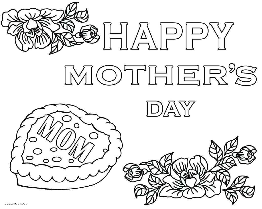 Free Mothers Day Coloring Pages Cards Happy Grandparents 5 Printable ...