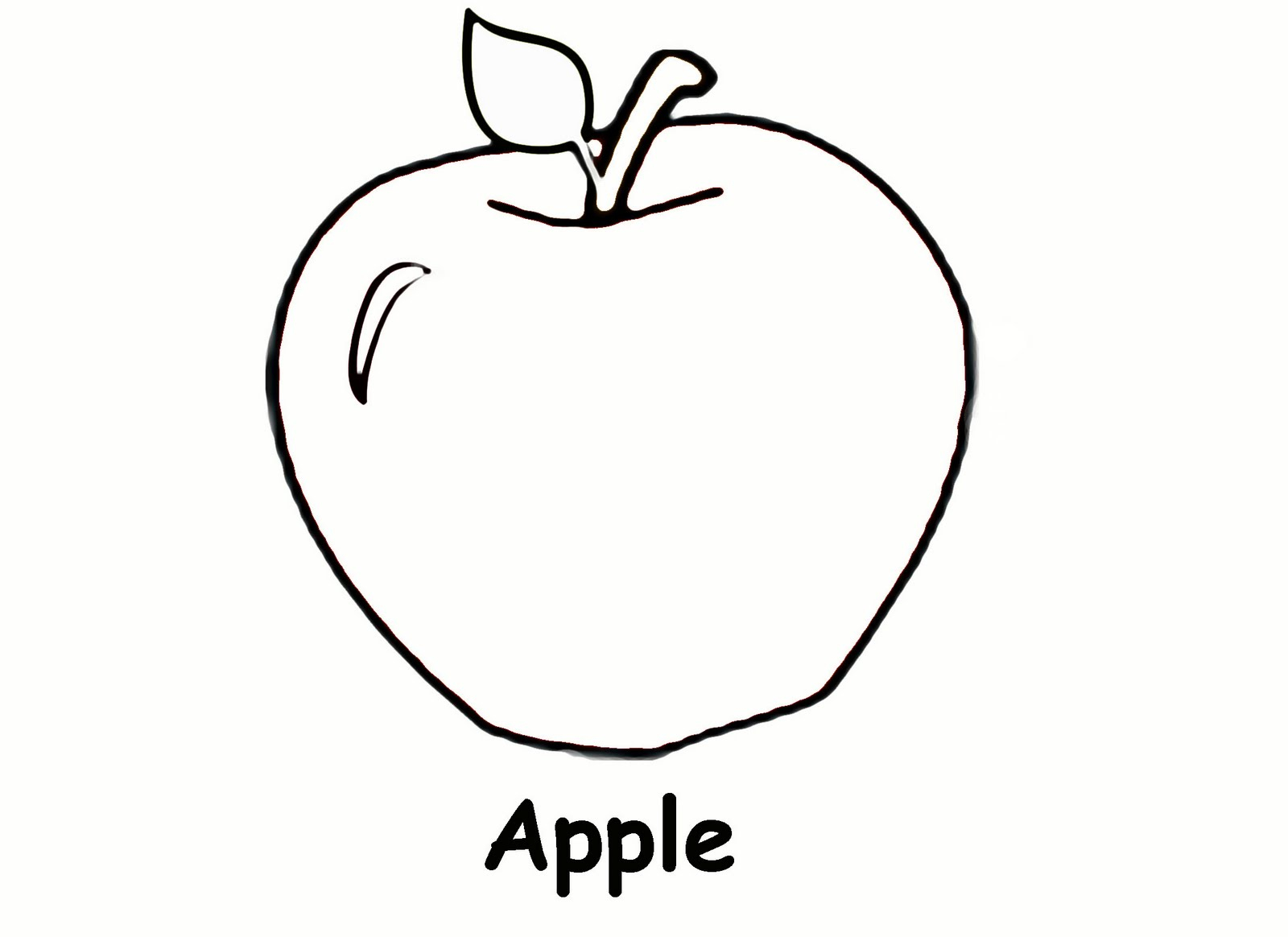 Free Printable Apple Coloring Pages for Kids Printable Of Christmas Coloring Pages Free to Print