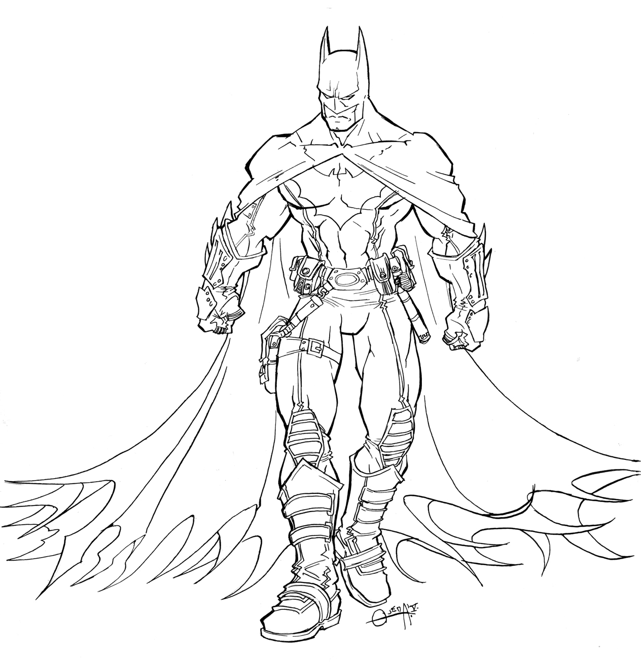 Batman Coloring Pages to Print 15b - To print for your project