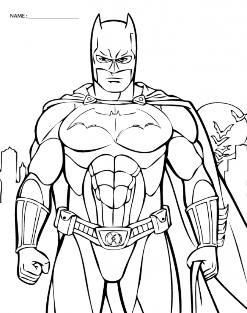 Batman Coloring Pages to Print | Free Coloring Sheets