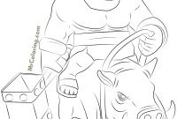 Free Clash Of Clans Coloring Pages - Free Printable Clash Of Clans Hog Rider Coloring Pages 1 Printable
