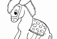 Pre Kinder Coloring Pages - Free Printable Donkey Coloring Pages for Kids Printable