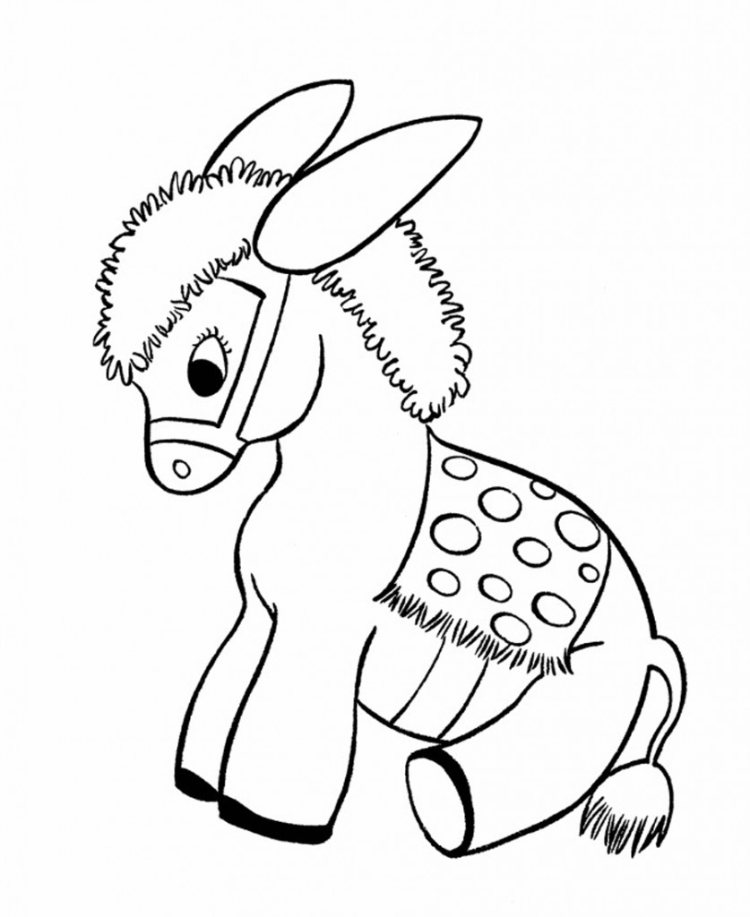 Free Printable Donkey Coloring Pages for Kids Printable Of Christmas Coloring Pages Free to Print