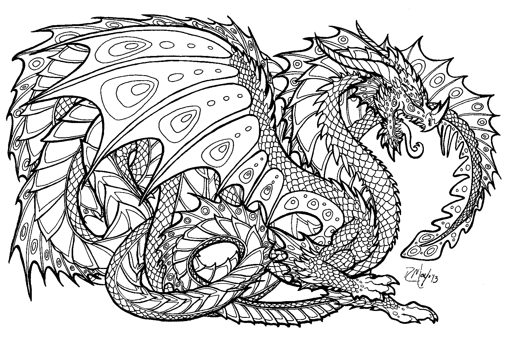 Complicated Coloring Pages to Print Download | Free ...