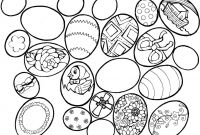 Online Easter Coloring Pages - Free Printable Easter Egg Coloring Pages 02 Printable