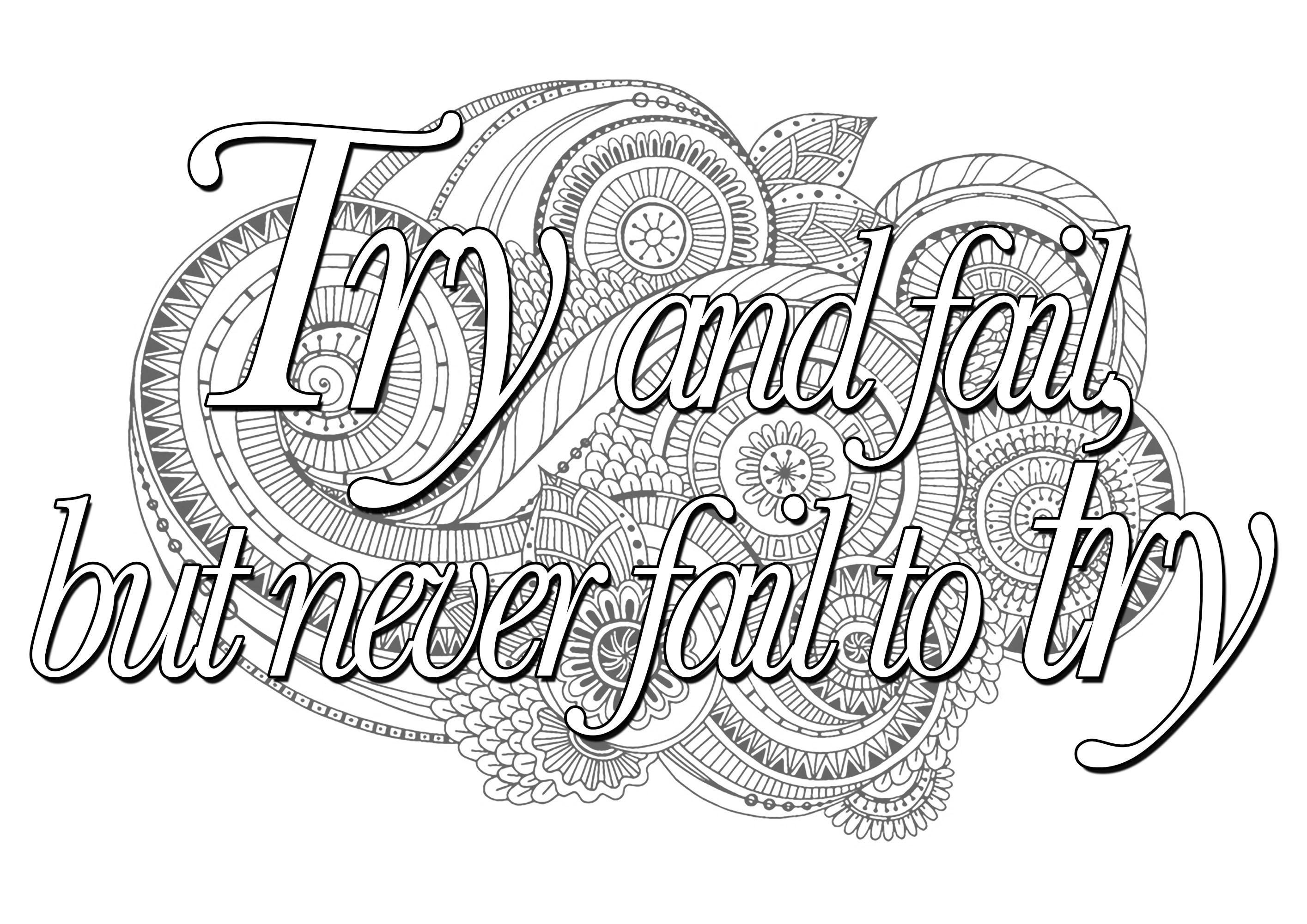 Printable Inspirational Quotes Coloring Pages Gallery ...