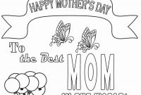 Mothers Day Coloring Pages for Preschool - Free Printable Mothers Day Coloring Pages for Kids Printable