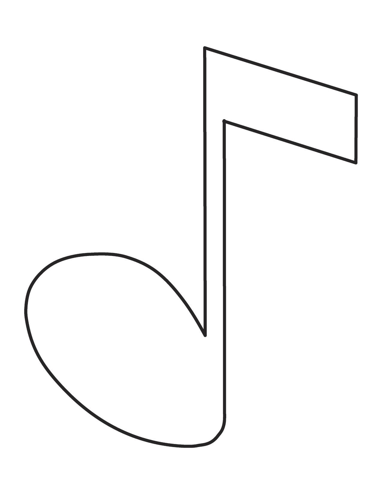 Music Notes Coloring Pages Preschoolers to Print 15g - Free For kids