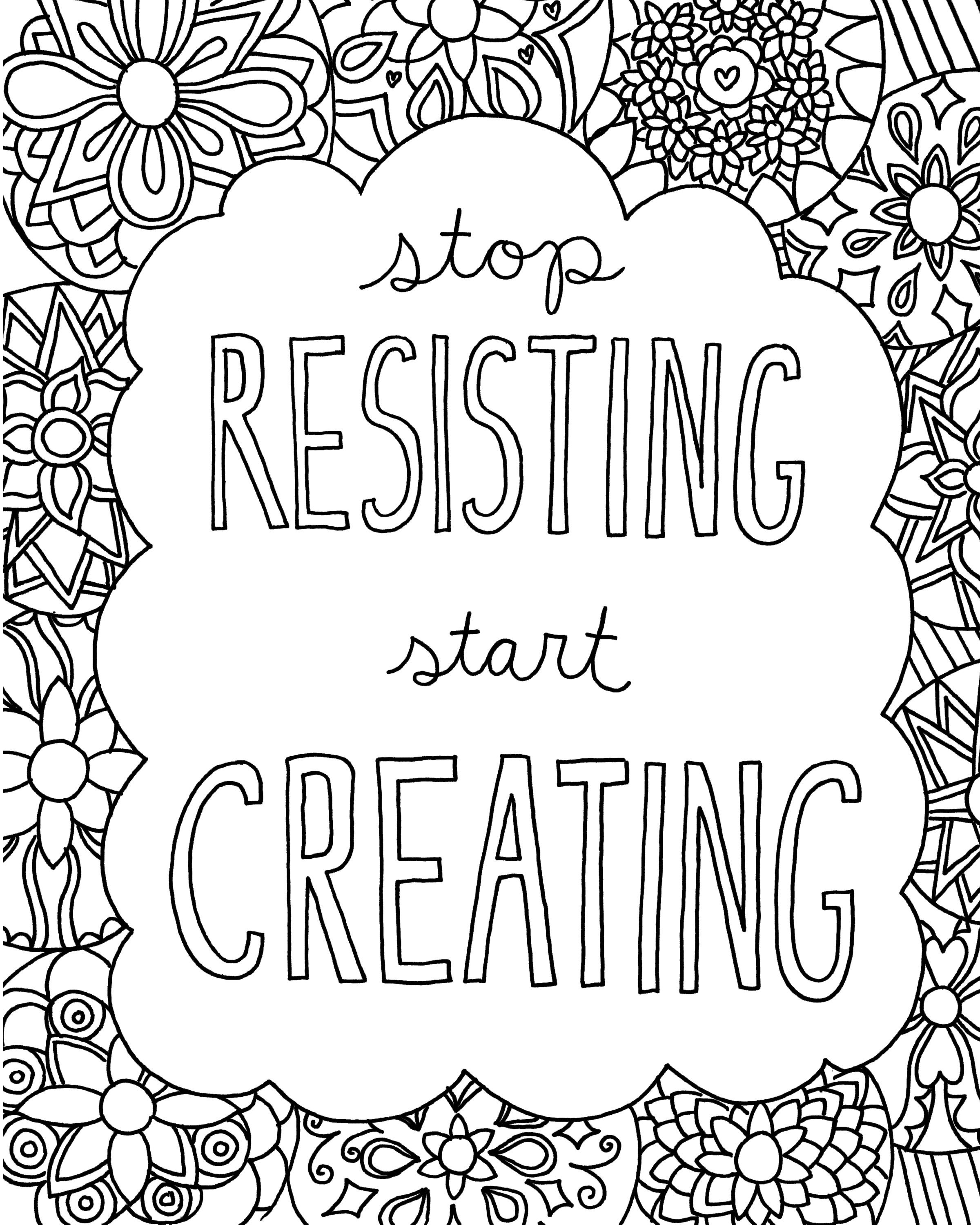 Beautiful Free Printable Inspirational Coloring Pages