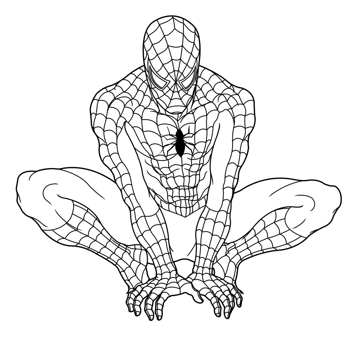 Free Printable Spiderman Coloring Pages for Kids Printable Of Superheroes Printable Coloring Pages Gidiyedformapolitica Download
