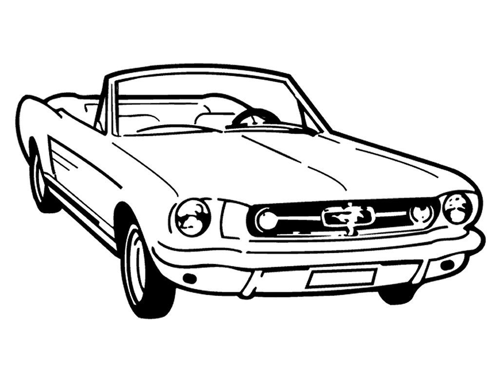 Fresh Vintage Old School Mustang Convertible Custom Made Decal Wall to Print Of Ford Mustang Gt500 Coloring Pages Appealing Page Full Size Download