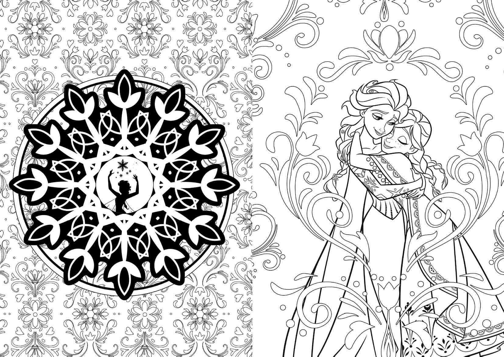 Frozen Sisters Love Free Coloring Page • Disney Frozen Kids Collection Of Walt Disney Coloring Pages Marie Walt Disney Characters Download
