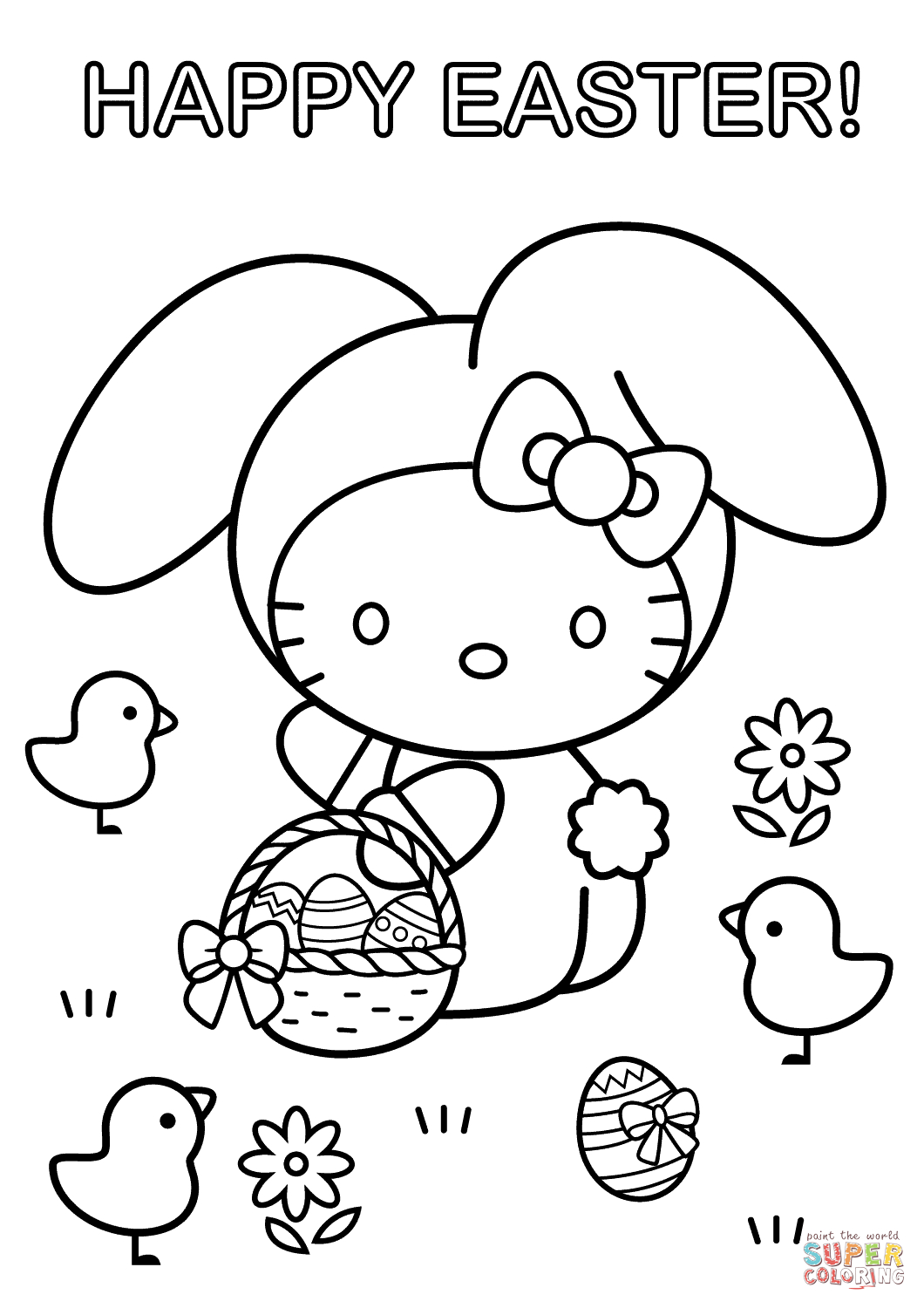 Disney Easter Coloring Pages Happy Easter Coloring Pages for Kids ...