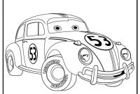 Volkswagen Beetle Coloring Pages - Herbie the Love Bug Free Coloring Pages Download