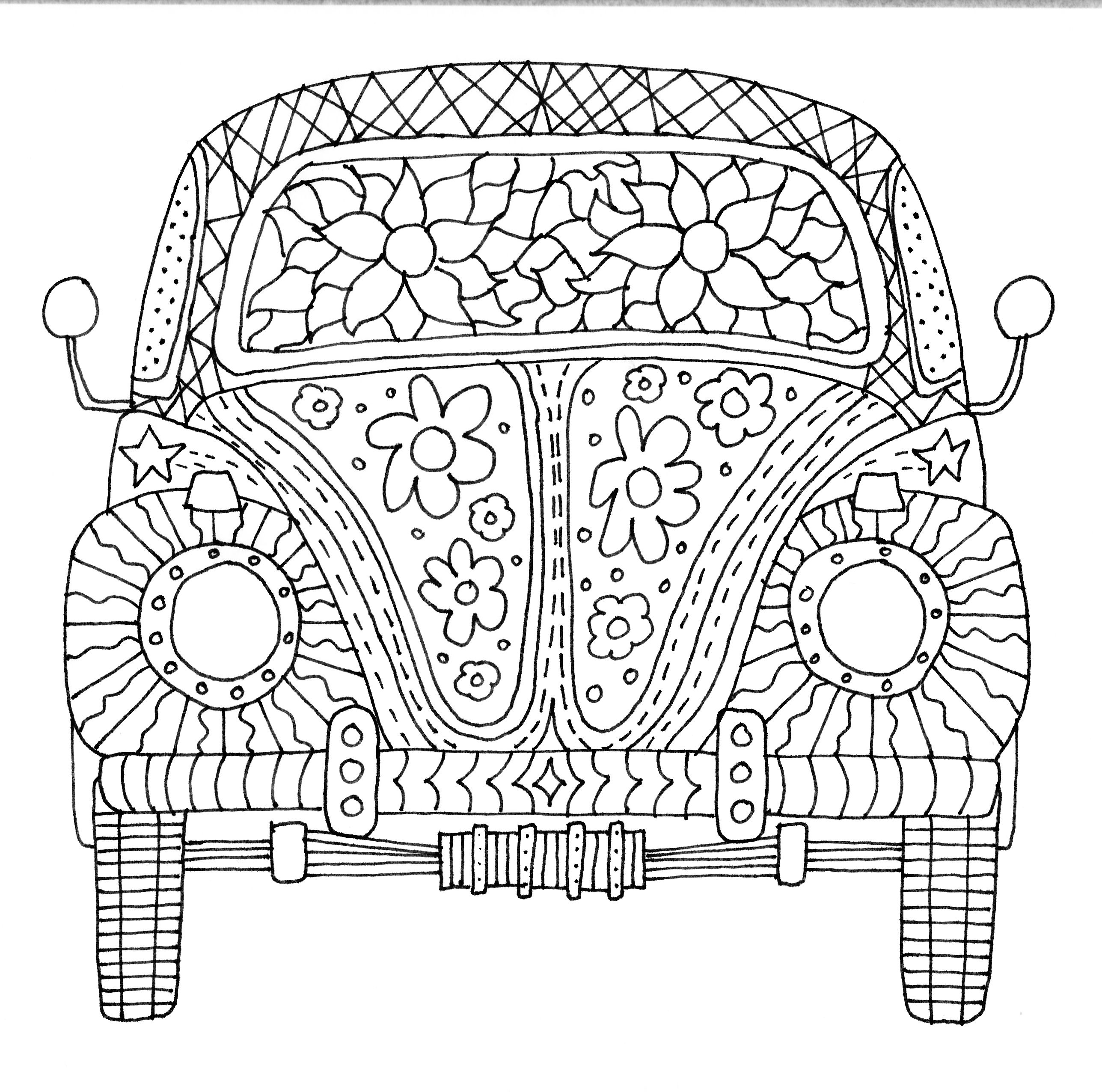 Vw Beetle Coloring Pages to Print | Free Coloring Sheets