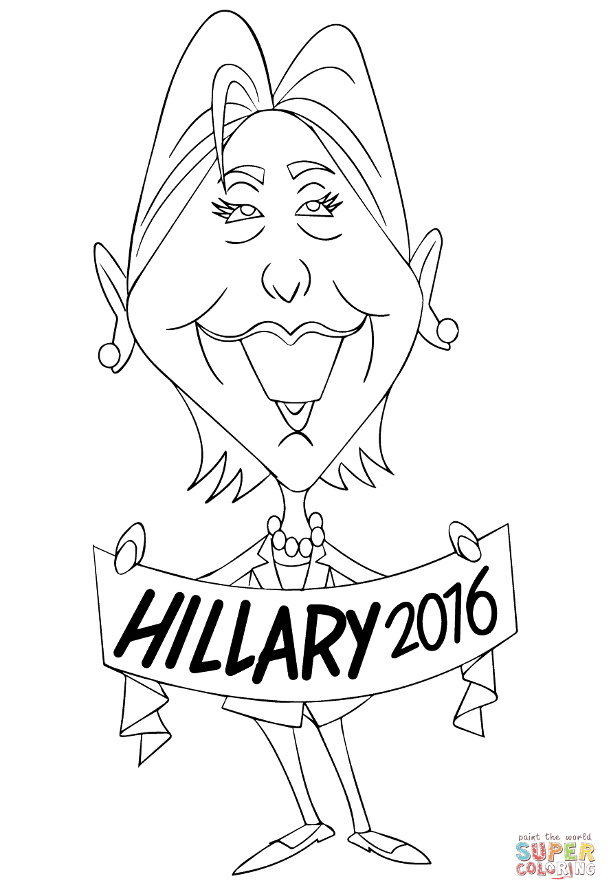 Hillary Clinton 2016 Coloring Page to Print Of Hillary Clinton Coloring Pages Collection to Print