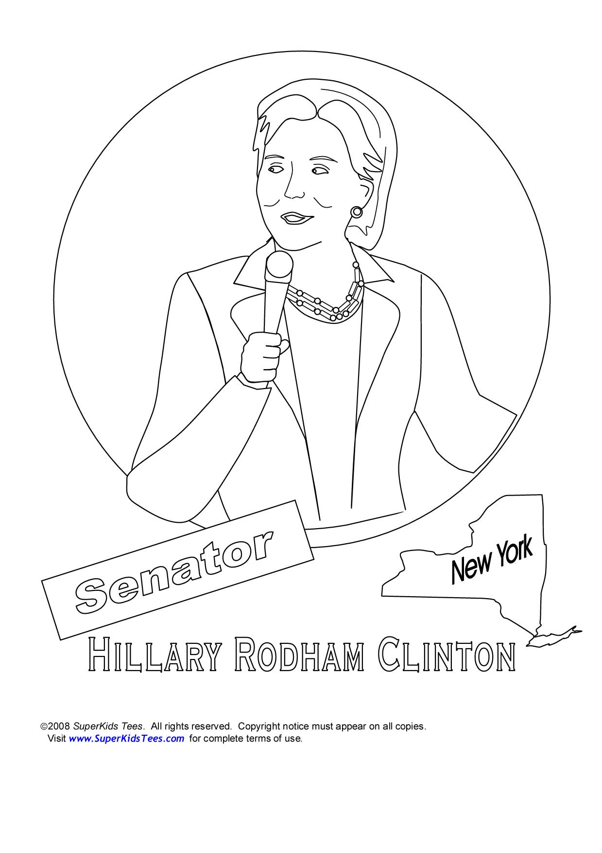 Hillary Clinton Coloring Pages - Hillary Clinton Coloring Pages Collection to Print