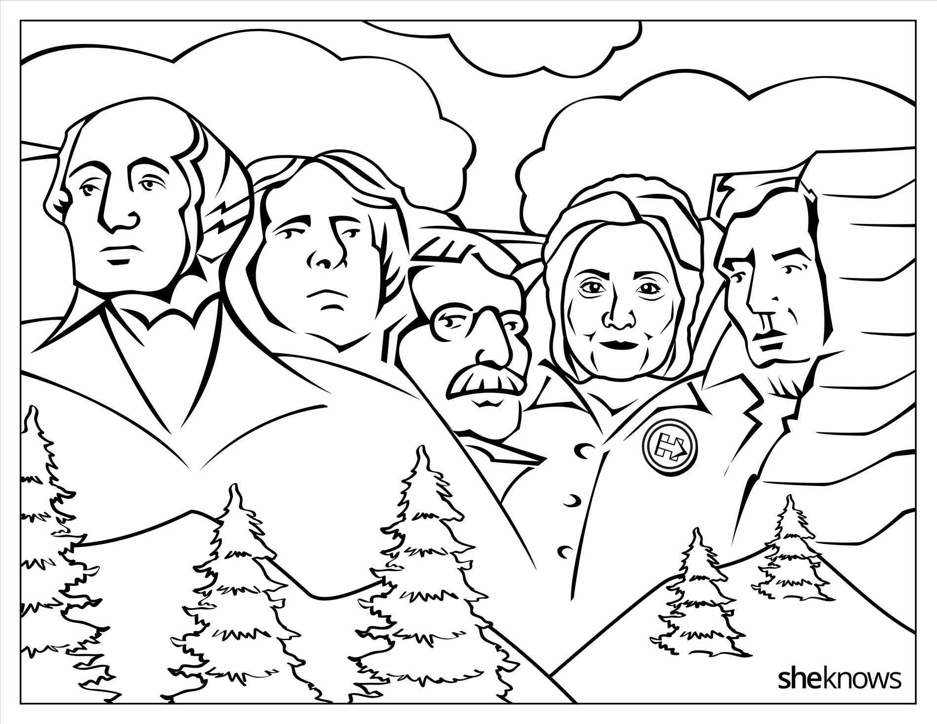 Hillary Coloring Pages Download Of Funny Hillary Clinton Meme Coloring Page for Adults Hilarious Gallery
